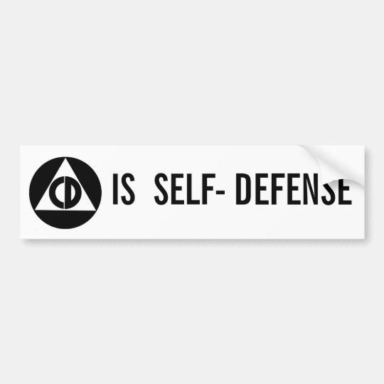 Civil Defence Is Self - Defence Bumper Sticker