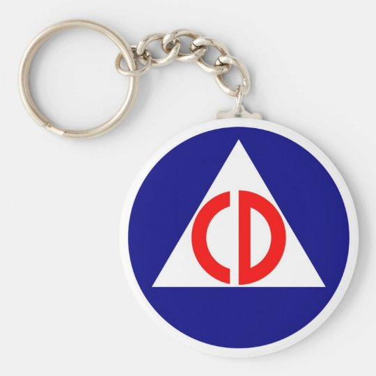 Civil Defence Logo Keychain