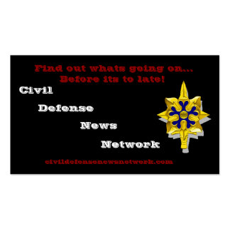 Civil Defence News Network Business Card