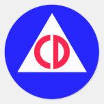 Civil Defence Round Sticker