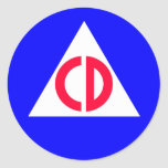 Civil Defence Round Stickers