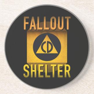 Civil Defense Fallout Shelter Atomic Age Grunge : Coaster