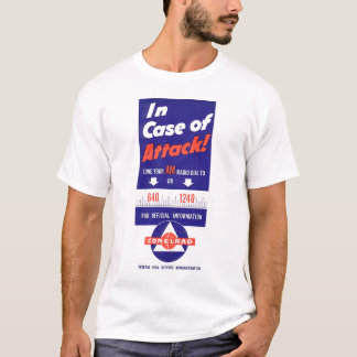 Civil Defense In Case of Attack AM Radio T-Shirt