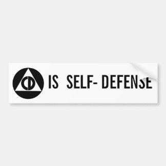 Civil Defense Is Self - Defense Bumper Sticker