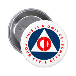 Civil Defense Logo Button