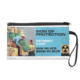 "Civil Defense  ""Sign of Protection"" Bag Wristlet Clutches"