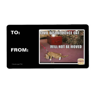 Civil Disobedience Cat Shipping Label