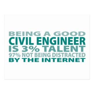 Civil Engineer 3% Talent Postcard