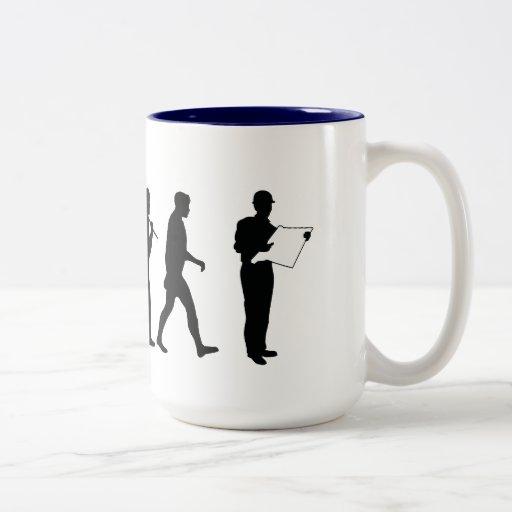 Civil Engineer builder quantity surveyor mens work Coffee Mugs