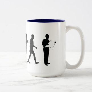 Civil Engineer builder quantity surveyor mens work Two-Tone Coffee Mug