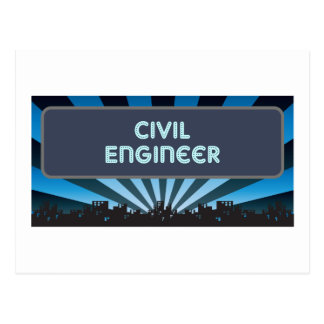 Civil Engineer Marquee Postcard
