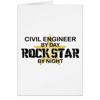 Civil Engineer Rock Star Greeting Card