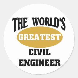 Civil Engineer Round Sticker