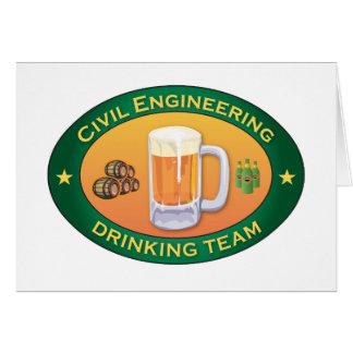 Civil Engineering Drinking Team Greeting Card