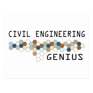 Civil Engineering Genius Postcard