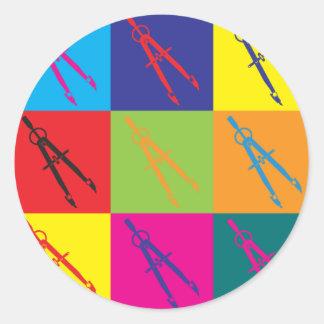 Civil Engineering Pop Art Round Sticker