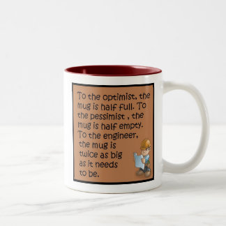 Civil Engineering saying Two-Tone Coffee Mug
