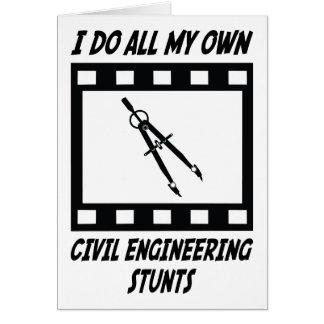 Civil Engineering Stunts Greeting Card