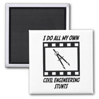Civil Engineering Stunts Square Magnet