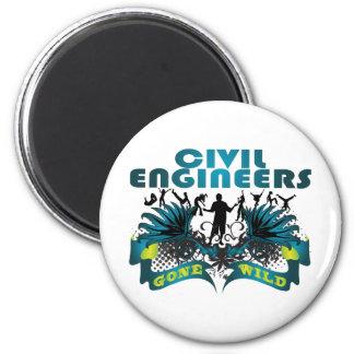 Civil Engineers Gone Wild 6 Cm Round Magnet