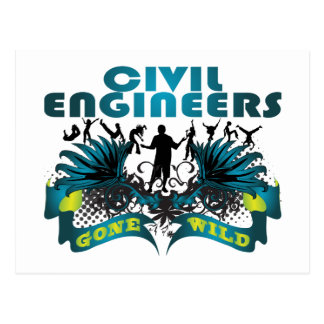 Civil Engineers Gone Wild Postcard