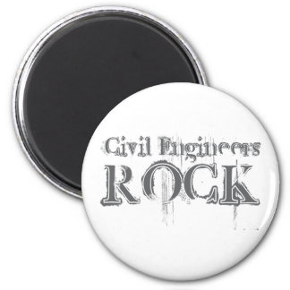Civil Engineers Rock 6 Cm Round Magnet