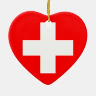 Civil Ensign Of Switzerland, Sweden flag Christmas Ornament