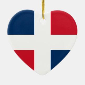 Civil Ensign Of The Dominican Republic, Denmark Christmas Ornament