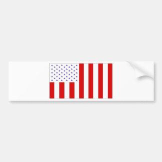 civil flag car bumper sticker