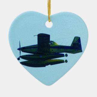 Civil Guard Seaplane. Ceramic Heart Decoration