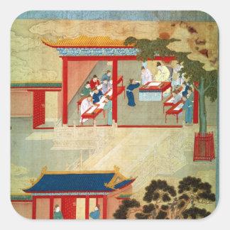 Civil Service Exam Under Emperor Jen Tsung Square Stickers