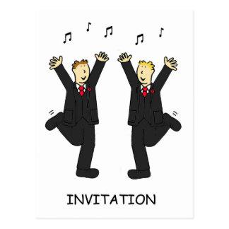 Civil Union Party Invitation. Postcard