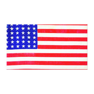 Civil War American Flag 1865 Gallery Wrap Canvas
