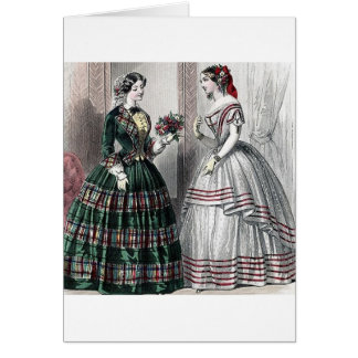 Civil War Antebellum Fashion Ladies Ball Gown Card