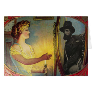 Civil War Apparition (Vintage Halloween Card) Card