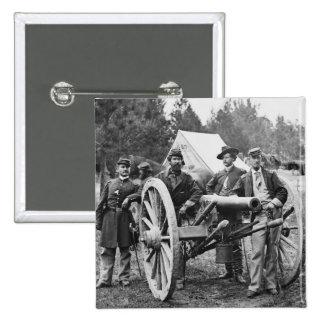 Civil War Artillery, 1860s 15 Cm Square Badge