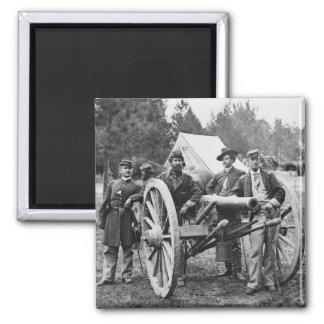 Civil War Artillery, 1860s Square Magnet