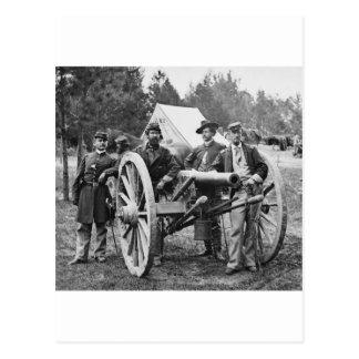 Civil War Artillery, 1860s Postcard