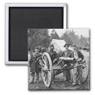 Civil War Artillery, 1860s Square Magnet