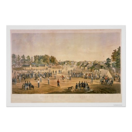 Civil War Baseball 1863 Poster