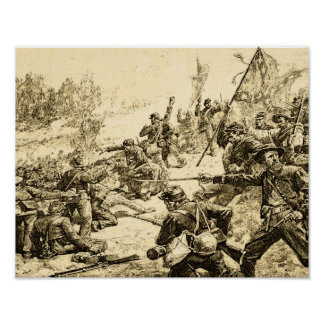 Civil War Battle American History Poster