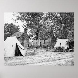 Civil War Battlefield Hospital, 1862 Poster
