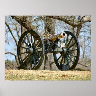 Civil War Brass Cannon Poster