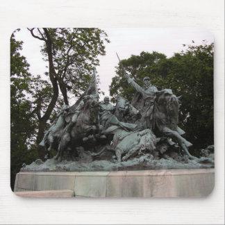 Civil War Cavalry Sculpture mousepad
