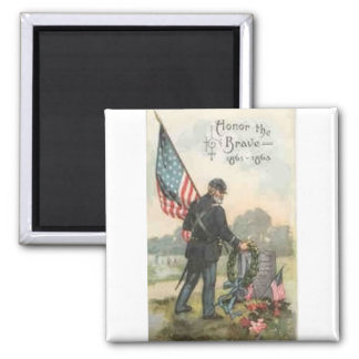 civil war cemetery square magnet