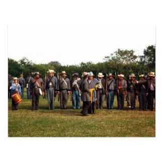 Civil War Confederate Soldiers US History Postcard