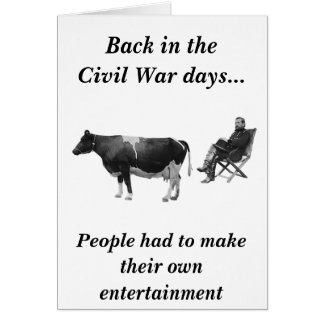 Civil War Entertainment Card