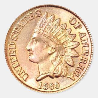 Civil War Era Coin Sticker