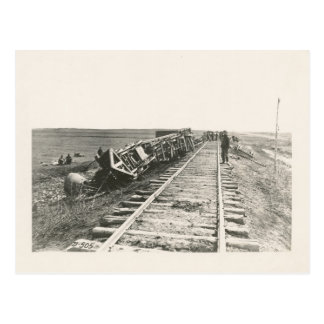 ​Civil War-Era Derailed Train Photograph Postcard