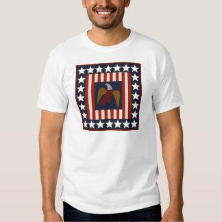 Civil War Era Digital Art Quilt Square T Shirt